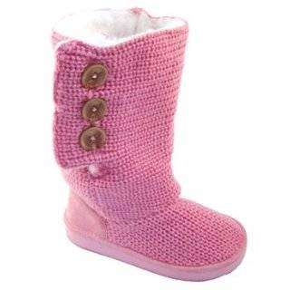 Modit Peach Knit Sweater Boots in Tan with Fur Lining / Toddler & Kids