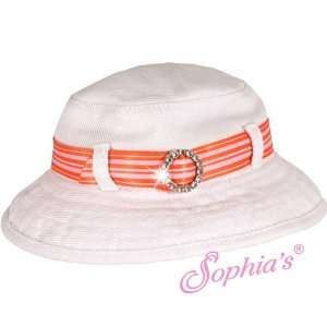 White Bucket Hat with Ribbon Trim for 18 Inch Dolls Toys