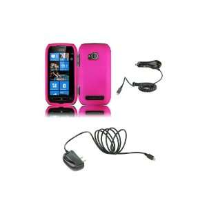 710 (T Mobile) Premium Combo Pack   Hot Pink Hard Shield Case Cover