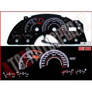 Black 97 98 99 Chevy Camaro Z28 White Glow Gauge Dash