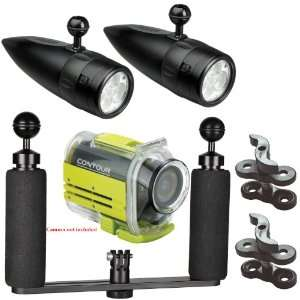 Underwater Video Lighting System for Contour HD Action Video Camera