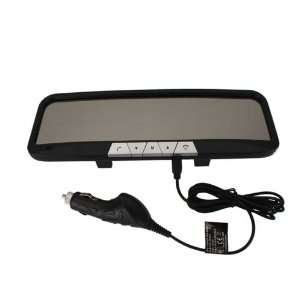 Rear View Mirror Monitor with Bluetooth Car Charger Black Electronics