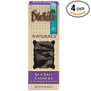 Sea Salt Cashews in Premium Chocolate   All Natural Candy   8oz Box