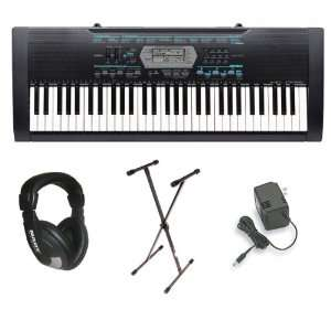Casio CTK 2100 61 Key Portable Keyboard Package with Headphones, Stand