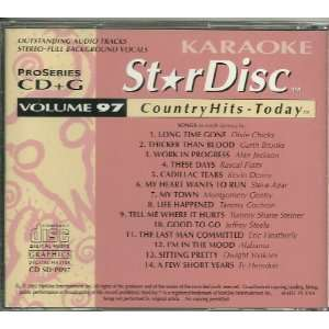 Star Disc #97 Karaoke CDG COUNTRY 14 Songs: Music