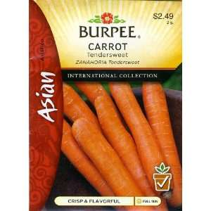 Burpee 69676 Asian   Carrot Tendersweet Seed Packet: Patio