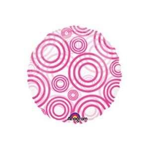 Circles Hot Magenta Polka Dot Balloon