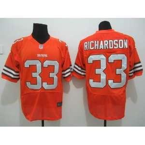 Nike NFL Cleveland Browns #33 Trent Richardson Orange Man Jersey Size