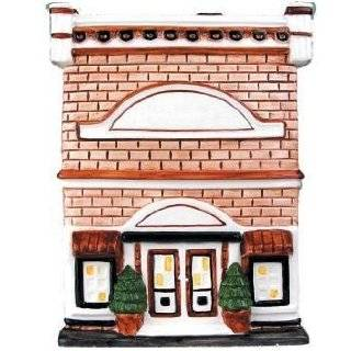 House with Chimney Ceramic Cookie Jar  Kitchen & Dining