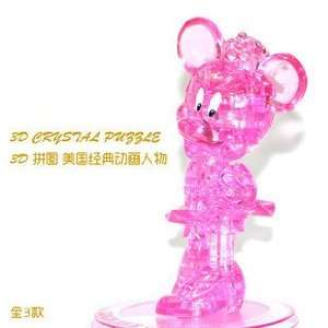 New 3d Pink Crystal Minnie Mouse Jigsaw Puzzle Gadget Iq