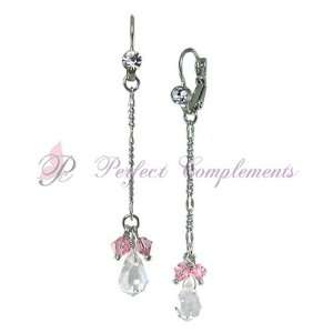 Drop complemented by Light Rose Swarovski Crystal Earrings Everything