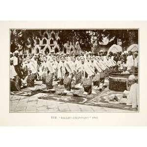 1907 Print Pew India Ballet Dancers Dancing Cultural