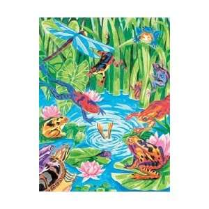 Dimensions Crafts Pencil By Number Kit 9X12 Frog Pond
