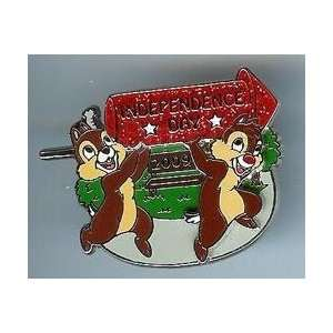 Disney Pin   Independence Day 2009   Chip & Dale   Limited Edition