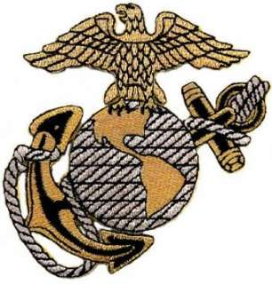 US Marine Corps Embroidered Patch USMC Military Eagle Anchor Globe