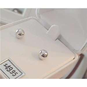 14 Kt 6mm White Gold Ball Earrings