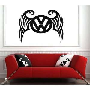 Garage Wall Volkswagen Emblem Logo Decal Vinyl Sticker Art