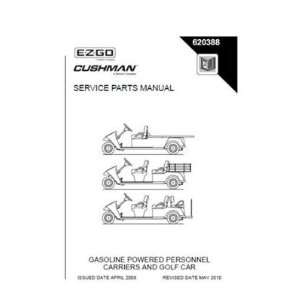 Parts Manual for E Z GO Cushman Gas Personnel Carrier and Golf Car