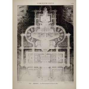 Architect Sea Baths Floor Plan   Original Print