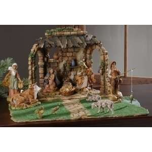 Piece Set Fontanini 5 Holy Family Nativity Scene with Stable and