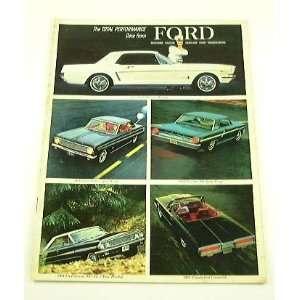 1964 64 FORD BROCHURE Fairlane Mustang Galaxie Falcon