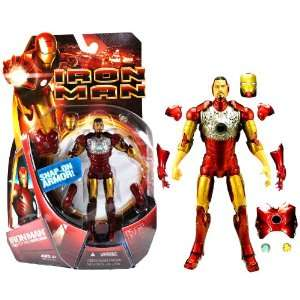 Hasbro Year 2008 Marvel Movie Series  IRON MAN  6 Inch Tall Action