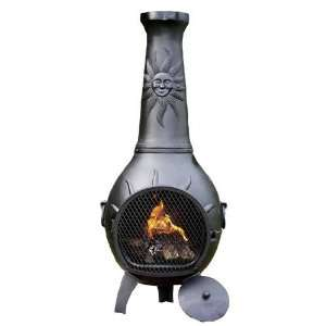 Sun Stack Cast Aluminum Gas Chiminea CH029GK: Patio, Lawn & Garden