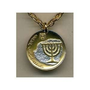 Two Tone Gold Filled Coin Pendant with 18 Necklace
