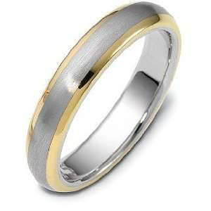 5mm Classic 18 Karat Yellow Gold & Titanium Wedding Band Ring   11.75