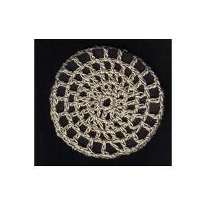Khaki Classic Crocheted Hair Bun Cover  MEDIUM: Everything Else
