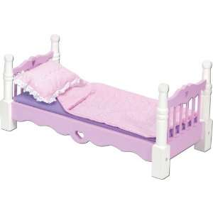 Melissa and Doug Solid Wood Doll Bed: Home & Kitchen