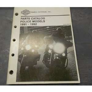 1991 1992 Harley Davidson Police Models Parts Catalog