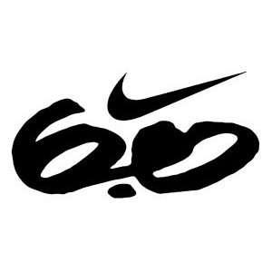Nike Swoosh 6.0 Vinyl Sticker Decal White 6 Inch Arts