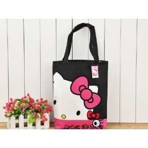 Lovely Black Hello Kitty Canvas Large Tote Beach Bag. Toys & Games