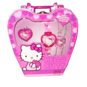 Hello Kitty LCD Watch in Heart Shaped Case   Pink  Toys & Games