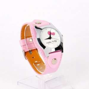 Hello Kitty Girls Round Watch Wristwatch Pink Toys