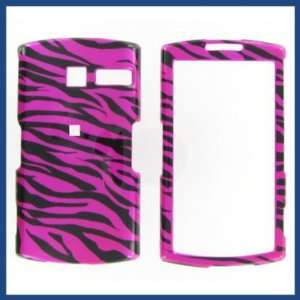 Asus Garminfone A50 Zebra on Hot Pink Hot Pink/Black Protective Case