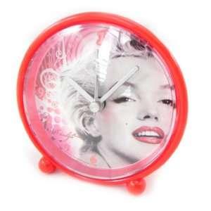 Alarm clock Marilyn Monroe red.