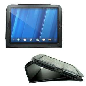 Black Portfolio Leather Case Cover Skin with Stand for HP