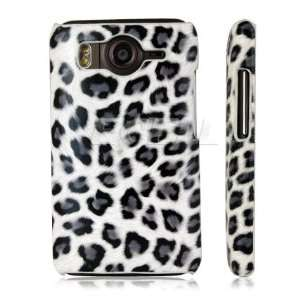 WHITE LEOPARD INSPIRED LEATHER BACK CASE HTC DESIRE HD Electronics