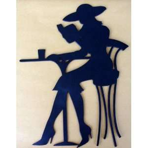 , Metal Art Wall Decor, Kitchen, Reading, Woman, Hat Everything Else