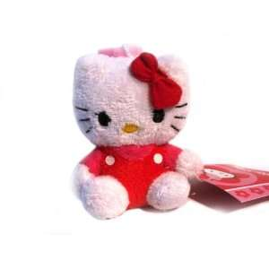 Hello Kitty* Mini Plush Doll Keychain Back Pack Clip   Red  Toys