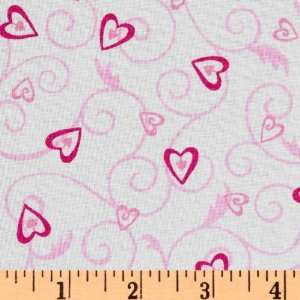 Forever Heart Lockets White Fabric By The Yard Arts, Crafts & Sewing