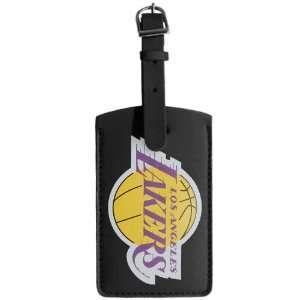 NBA Los Angeles Lakers Black Leatherette Printed Logo Bag