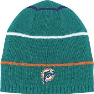 Miami Dolphins Striped Cuffless Knit Hat Sports