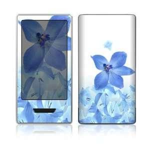 Microsoft Zune HD Decal Skin Sticker   Blue Neon Flower