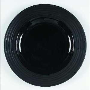 Mikasa Swirl Black Deep Round Platter, Fine China