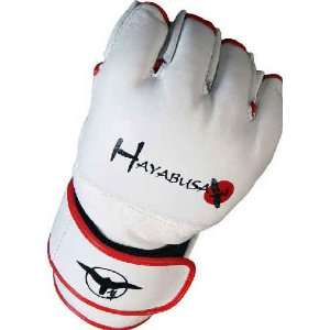 HAYABUSA FIGHTWEAR WHITE PRO MMA FIGHT GLOVES S/M: Sports & Outdoors