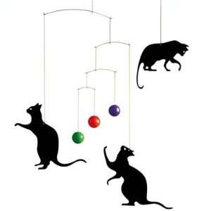 Flensted Mobiles Nursery Mobiles, Feline Fun Baby