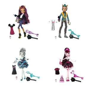 Monster High Sweet 1600 Complete Set Draculaura, Clawdeen Wolf, Clawd